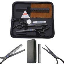 6 Inch Professional Barber Salon Hair Cutting Thinning Scissors Set