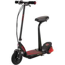 Razor Power Core E100s 24 Volt Scooter - Red, Operated Front Caliper Brake,  Pneumatic Front Tyre, 24V (Two 12V) Sealed Lead For 8 Years+ - Red