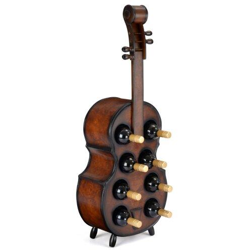 Cello Wine Rack Wooden Free Standing 8 Bottle Storage Holder H101cm Christow