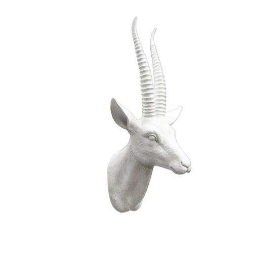 43cm Goat Head Mount Wall Sculpture Decor Animal Sheep Statue Faux Taxidermy Ornaments