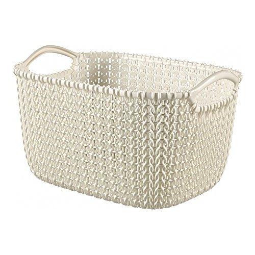 "CURVER ""Knit Rectangular Basket, White, 8 Litre"