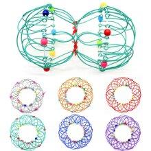 Flow Ring Fidget Toys 3D Ring Arm Magic Mandala Flower Basket Toys Kids Gift