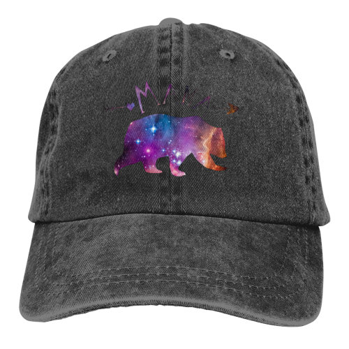 Galaxy Love Mama Bear Denim Baseball Caps