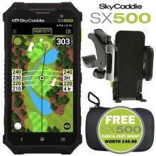 """SKYCADDIE SX500 GOLF GPS 5"""" RANGEFINDER +FREE CART MOUNT & CASE WORTH £49.99"""