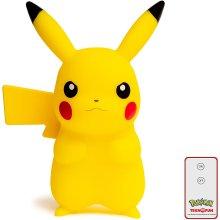 TEKNOFUN 811372 Pokemon, Pikachu Lamp with Remote Control, Yellow