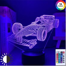 F1 Formula 1 Racing Car 3D Illusion Led Night Light Child