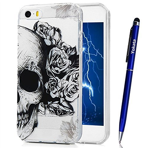Case For Iphone 5 5s Iphone Se Yokata Ultra Thin Slim Trendy Colourful Painting Fashion Design Pattern Clear Soft Tpu Silicone Back Bumper Cover On Onbuy