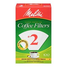 Melitta #2 Cone Coffee Filters, White, 100 Count (Pack of 6)