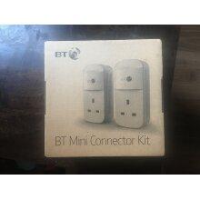 BT Mini Connector Kit - 1GB Twin Powerline Plugs 3859