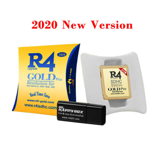 (Gold) 2020 R4 R4i Dual Core Flash Card Adapter for DS 2DS New 3DS XL V1.0-11.9
