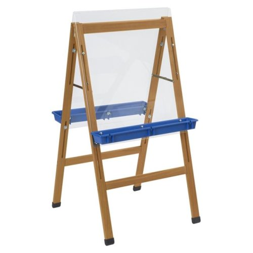 Childcraft 2004412 24 x 26.63 x 44.5 in. 2 Blue Paint Trays Outdoor Easel
