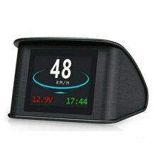 T600 Universal Car HUD Head Up Display Digital GPS Speedometer with Speedup Test Brake Test Overspeed Alarm TFT LCD Display for All Vehicle