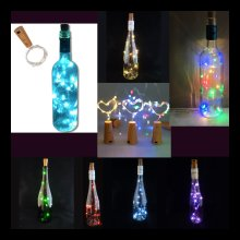 LED Cork; 10 Lights on a String with a Bottle Stopper. Lamp, Light, Wedding, Event *Bottle NOT Included*