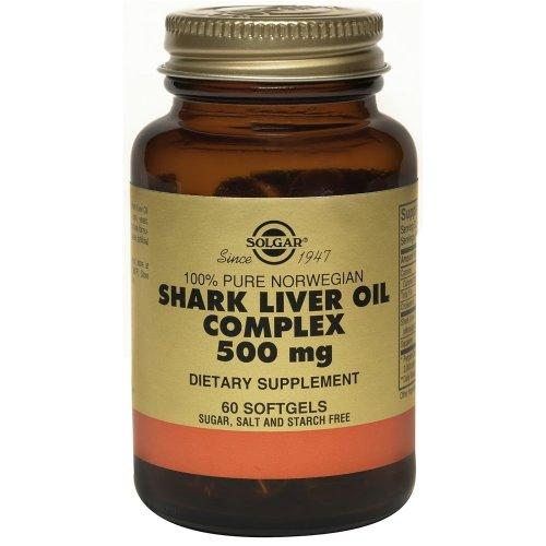 Solgar 100% Pure Norwegian Shark Liver Oil Complex 500 mg Softgels, 60