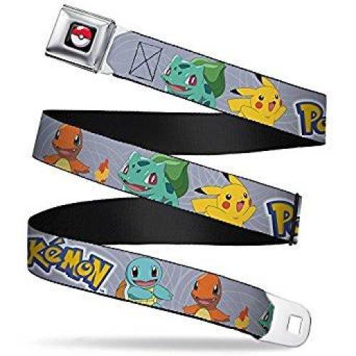 Seatbelt Belt - Pokemon - V.23 Adj 24-38' Mesh New pka-wpk057