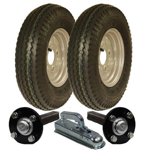High speed trailer kit 4.80/4.00-8 wheels + hub & stub axle, hitch