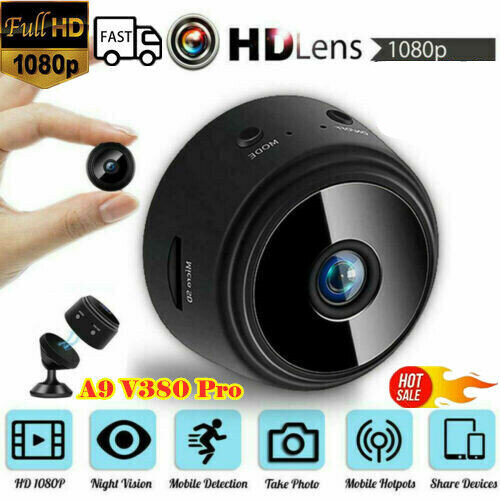 1080P Wireless WiFi Indoor/Outdoor HD MINI Magnetic IP Camera CCTV Home Security