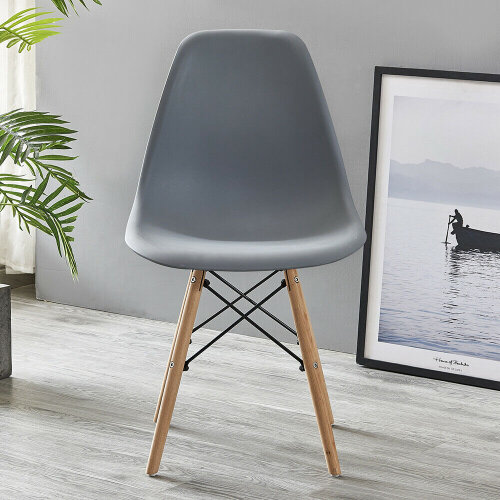 (Grey) Dining Chairs Wooden Legs Office Kitchen Chairs