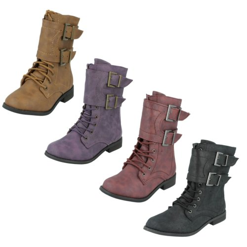 Girls Spot On Boots With Buckle Design