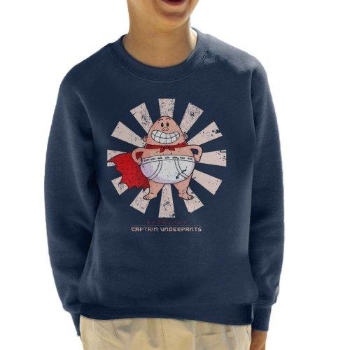 Captain Underpants Retro Japanese Kid's Sweatshirt