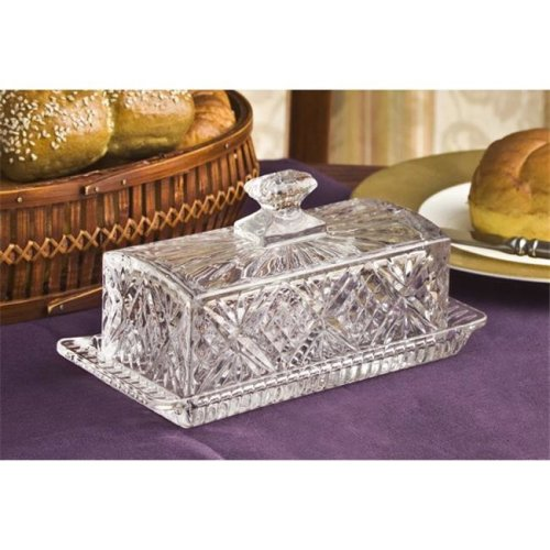 Crystal Covered Butter Dish  Dublin