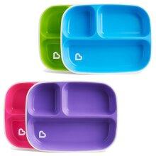 Munchkin Splash Divider Plates 2Pk Baby Plate