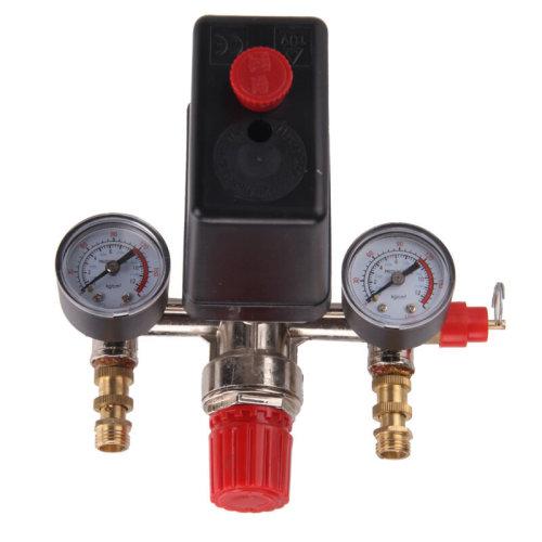 230V Pressure Switch Air Valve Manifold Compressor Regulator Gauges