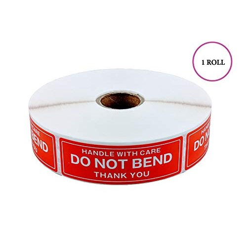 "EPS Handle With Care - Do Not Bend - Thank You Shipping Stickers 1""x3"" 1000 Per Roll (1 Roll)"