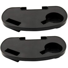 Abaseen Pack of 2 Chair Side Tray, Mobile Device Slot, Cup Holder