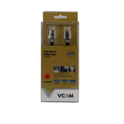 Vcom 3M Gold Plated Engineering Level Hdmi Cable 4K Compatible Nylon Braide CG571 3M