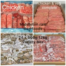 24pk Barf Raw Diet Variety Dog Food   Raw Frozen Dog Food - 24 x 500g Blocks