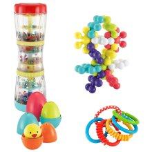 ELC Set of 4 New Born Baby Infant Developmental Educational Toys Gift Set For Boys Girls