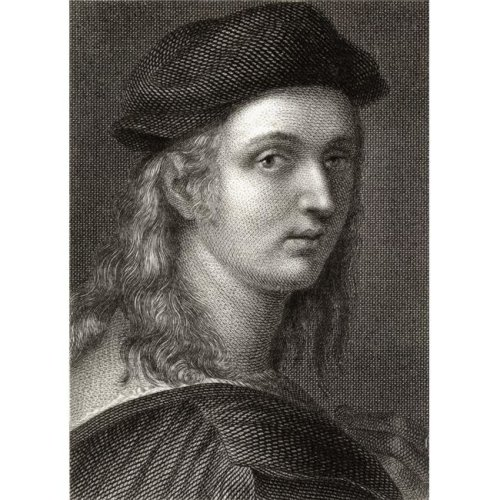 Raffaello Sanzio 1483-1520 Italian Painter & Architect 19th Century Engraved by William Finden From A Painting Poster Print, 13 x 18