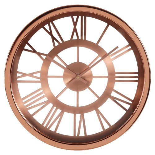 Baillie Skeleton Wall Clock, Rose Gold