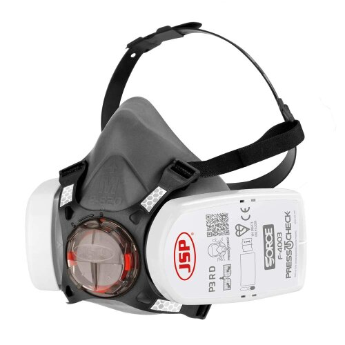 Force 8 Half-Mask with PressToCheck P3 Filters (JSP BHT0A3-0L5-N00)