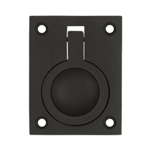 2.5 x 1.87 in. Flush Ring Pull, Oil Rubbed Bronze - Solid