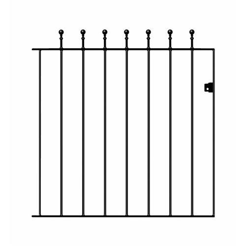 Manor Single Ball-Top Wrought Iron Gate