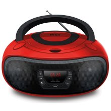 Grouptronics GTCD-501 Red CD Player With Radio, USB, MP3 & AUX IN