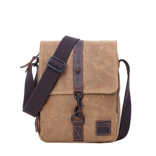 TRP0481 Troop London Classic Canvas Messenger Bag | Buy Bags Online | Canvas Messenger Bags | leather canvas backpack