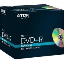 TDK T19389 4.7GB 16x DVD+R - Jewel Cased 10 Pack