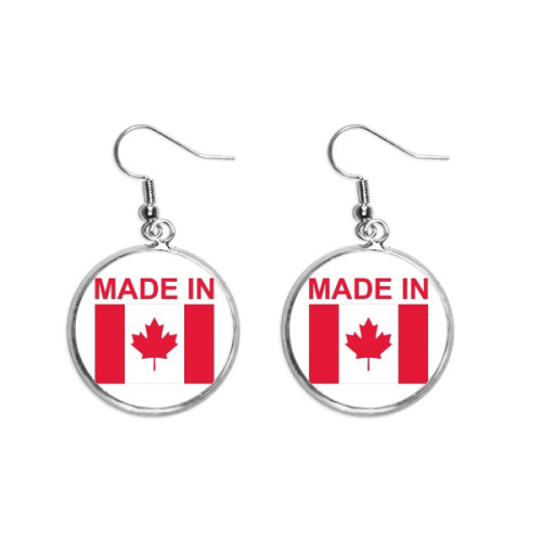 Made In Canada Country Love Ear Dangle Silver Drop Earring Jewelry Woman