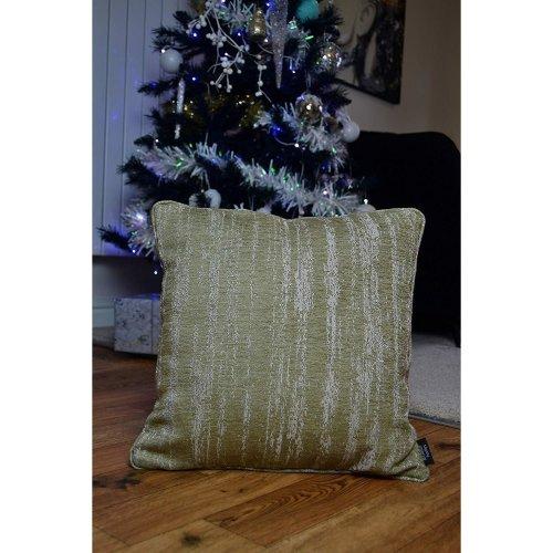 (Beige, 43cm x 43cm) McAlister Textiles Textured Chenille Cushions