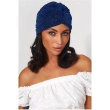 Blue Shimmer Twist Hat