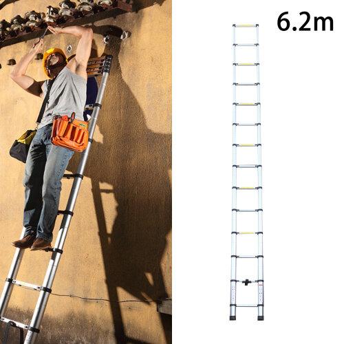 6.2 m Heavy Duty Aluminium Échelle Télescopique Extensible 20.3 ft