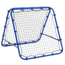 HOMCOM Rebounder Net Football Target Goal Training Adjustable Angles