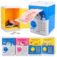 Large Piggy Bank Children- Smart ATM Money Saving Box alcancia Password for Paper Money Pink Cat Coin Bank