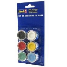 REVELL Base Colour Set (6x14ml colours) Enamel Paints 32342