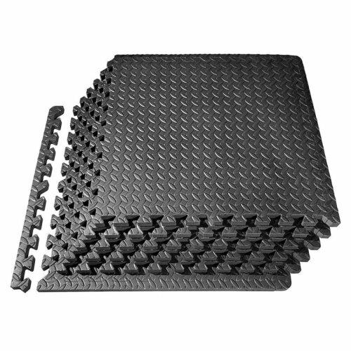 (4 Mats - 16 Square Feet) Interlocking Floor Mat Gym Mat Fitness Soft Foam