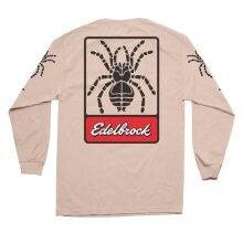 Edelbrock EDL289126 O.G Tarantula Long Sleeve T-Shirt, Tan - Small