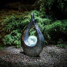 47cm Contemporary Style Garden Sculpture Solar Powered White LED G-0142